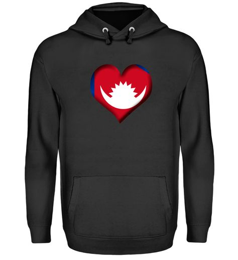 Nepal Herz Flagge