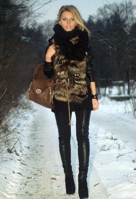 Boho Winter  ,  in Vests, invuu.pl in Jewelry,  in Bags,  in Leggings, Zara (new collection) in Belts