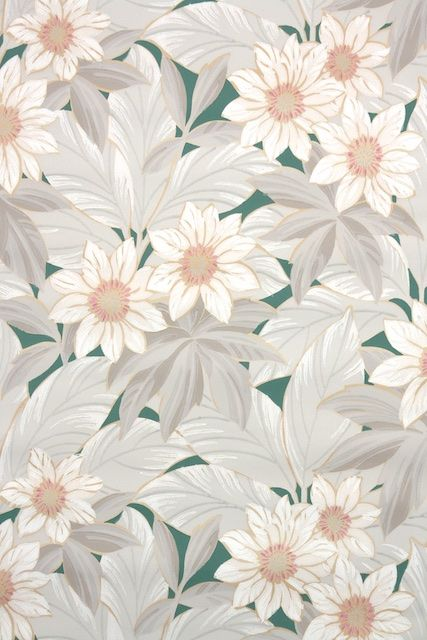 1930s Botanical Vintage Wallpaper In 2019 Wallpaper 1930s