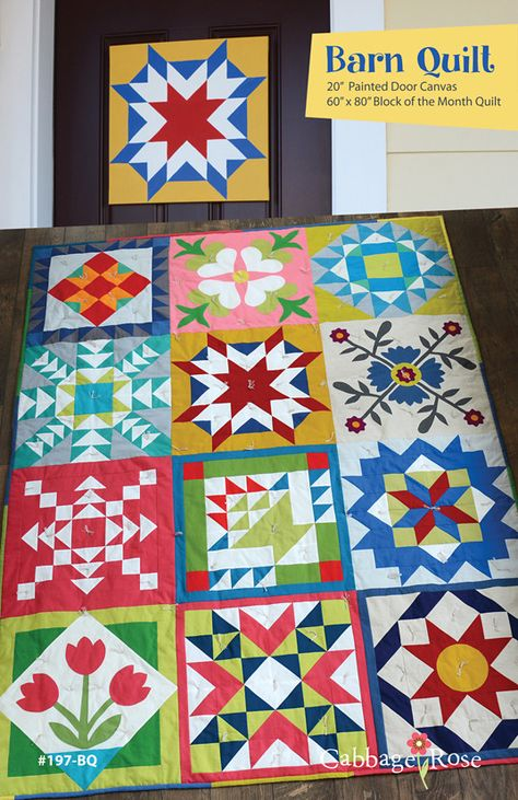 Barn Quilt pattern by Cabbage Rose - downloadable PDF pattern
