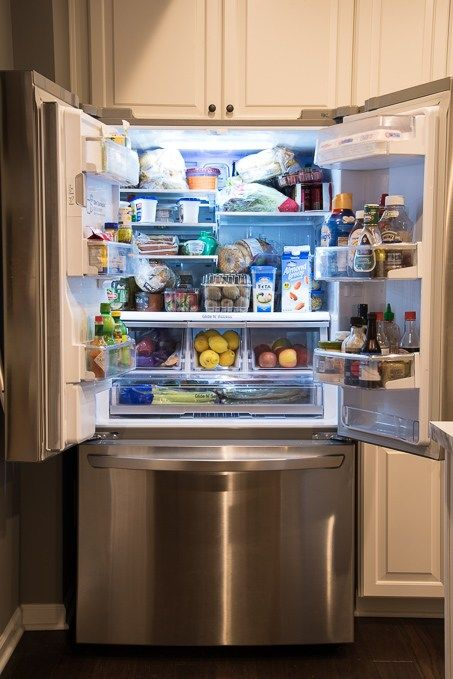 How To Organize A French Door Refrigerator Make The Most Out Of All The Food Storage Space And Create A French Doors French Doors Interior Wood Doors Interior