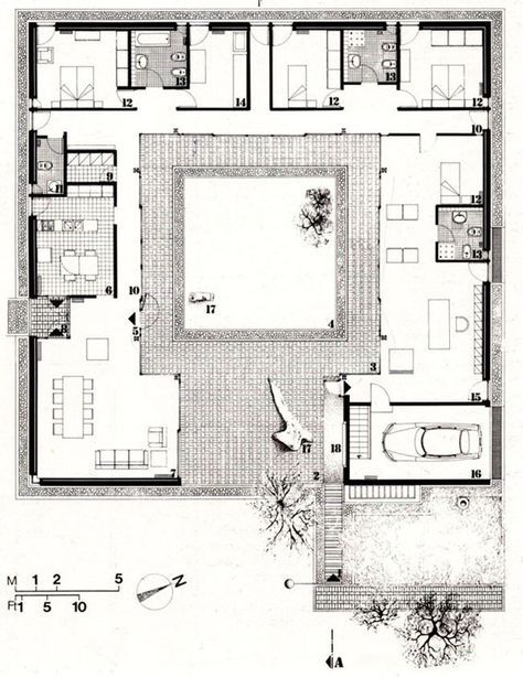 24 01a Casa Follina Jpg 567 736 Great Pin For Oahu Architectural Design Visit Http Ownerbuil Courtyard House Plans Architectural Floor Plans House Plans