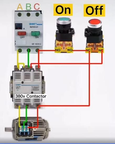 How To Self Lock When The Auxiliary Contact Of The Contactor Is Broken Electrical Circuit Diagram Electricity Basic Electrical Wiring