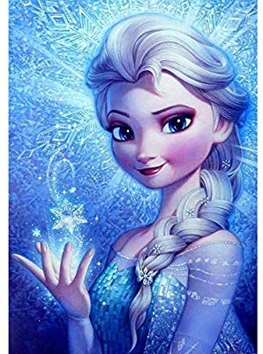 Amazon Com Diy 5d Diamond Painting By Numbers Kits For Adults 16 X12 Paintings Crystal Rhine In 2020 Disney Frozen Elsa Art Disney Princess Drawings Frozen Pictures