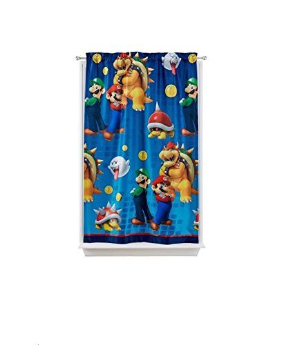 Nintendos Super Mario Defiant Mario Room Darkening Window Panel 42 By 63inch Check Out The Image By Visit Mario Room Super Mario Room Room Darkening Curtains