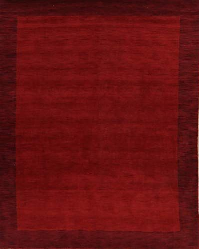 Red Burgundy Bordered Modern Gabbeh Oriental Solid Area Rug Contemporary Wool Hand Knotted Carpet 8x10 Solid Area Rugs Contemporary Area Rugs Knotted Carpet