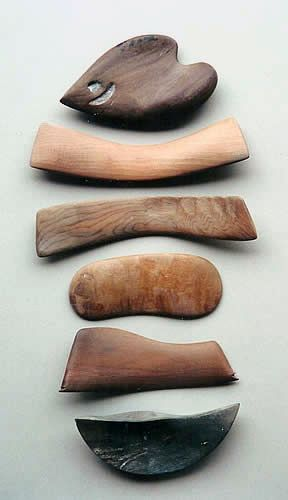 Art within art to create art...wonderful. pottery tools made from driftwood by Chris Weaver