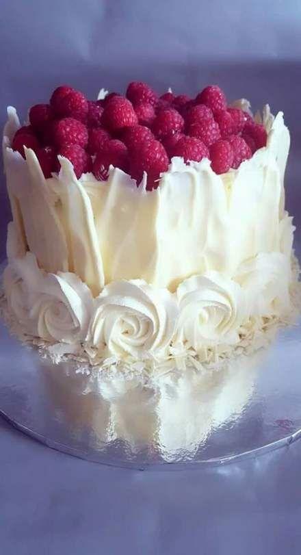 Birthday cake ideas simple white chocolate 55 ideas