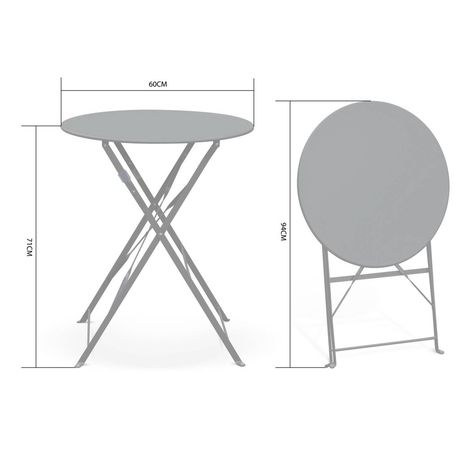 Table De Jardin Bistrot Pliable - Emilia Ronde Rouge ...