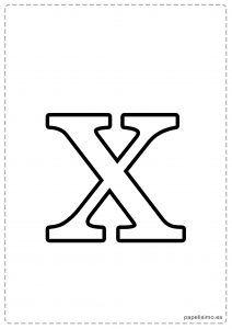 X Abecedario Letras Grandes Imprimir Minusculas Letras Grandes