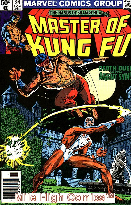 Master Of Kung Fu 1974 Series Marvel Shang Chi 94 Near Mint Comics Book Comics War Comics Comic Books Art