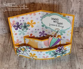 The Stampin Bunny Fold Flat Quarter Sheet Pop Out Card Birthday Bonanza And Under My Umbrella Fun Fold Cards Pop Out Cards Pop Up Card Templates