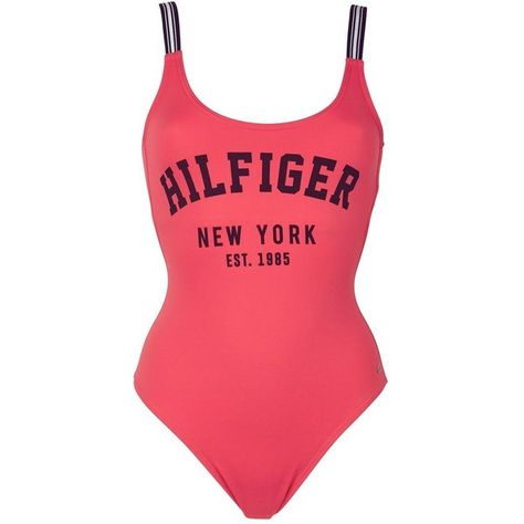 8b5a44e9d1f37 Tommy Hilfiger Clio Hilfiger Ny Swimsuit ($100) ❤ liked on Polyvore  featuring swimwear,