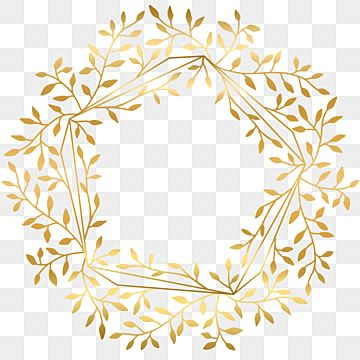 Gold Leaves Frame Border Beauty Flower With Geometric Shape Frame Border Green Png Transparent Clipart Image And Psd File For Free Download Geometric Shapes Gold Photo Frames Geometric