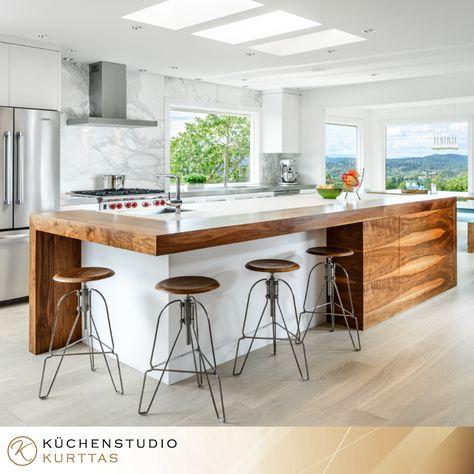 Interessante Kücheninsel :-) moderne küche mit grauen lackfronten ...