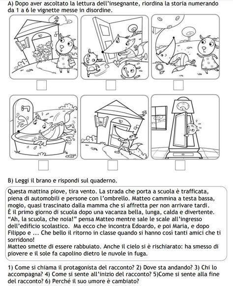Risultato Immagini Per Storie Da Riordinare Con Le Parole Del Tempo Classe Seconda Attivita Di Comprensione Scuola Schede Didattiche