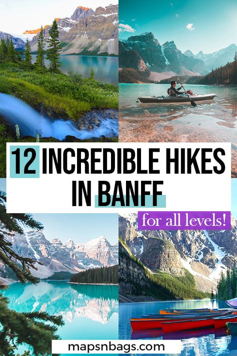 Check out the most beautiful trails in the Canadian Rockies! This guide to the best hikes in Banff has all info you need, including recommended outfit, lakes to visit, and much more for your adventure! Check it out now! Alberta Canada, Banff Canada, Quebec, Canadian Travel, Canadian Rockies, Banff National Park Canada, Canada Vancouver, Voyage Canada, Alberta Travel