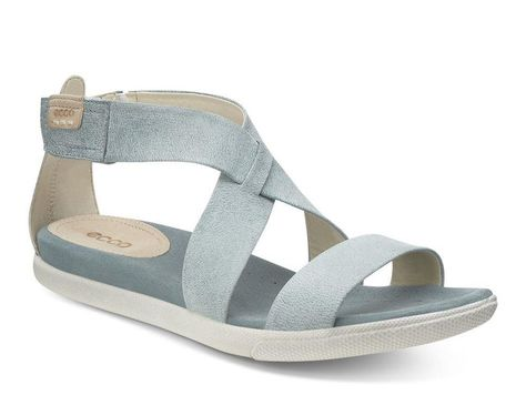 17aee0759ef2 Love the soft blue leather ECCO DAMARA STRAP SANDAL