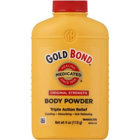 Gold Bond Original Strength Medicated Body Powder 4 Oz Black
