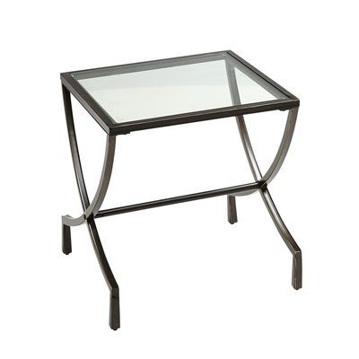 Emma Metal Glass End Table Glass End Tables Metal End Tables