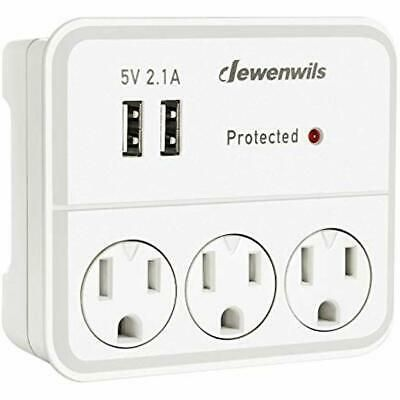 3 Outlet Extender Surge Protector Wall Plug 2 Usb Charging Ports Phone Holder Phone Holder Usb Charging Wall Plug