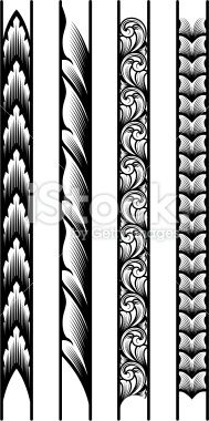 Engraved Borders Royalty Free Stock Vector Art Illustration