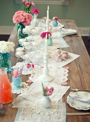 Exceptional Hankie Table Runner. Use Doilies As An Alternative. | Crafting | Pinterest  | Lace Vase And Paper Doilies Design Inspirations