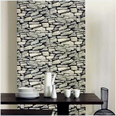 Wallpaper That Looks Like A Stone Wall Personally I Realize That I Might Want To Have In My Apartment A W Faux Stone Wallpaper Dry Stone Wall Stone Wallpaper
