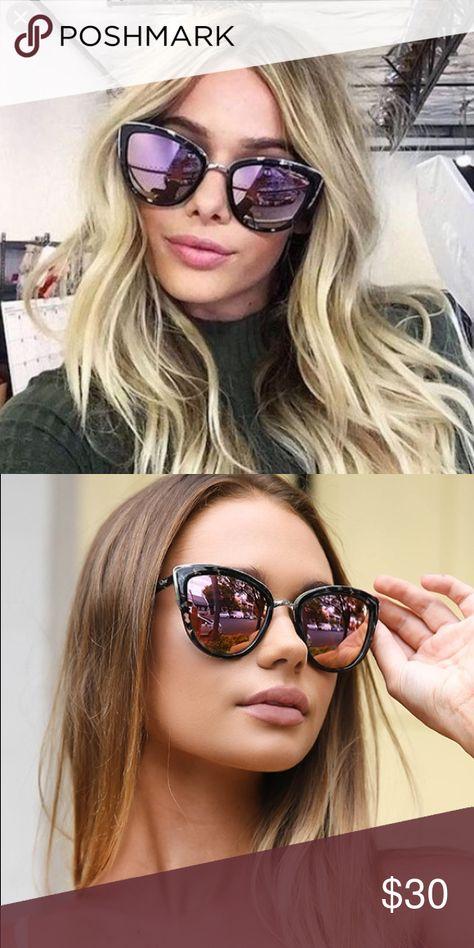 e55a55100324f Quay my girl pink sunglasses Cat eye frame. Pink lenses. Quay Australia  Accessories Sunglasses