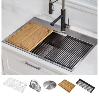 Kraus Kwt310 30 In 2020 Drop In Kitchen Sink Stainless Steel