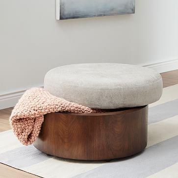 Upholstered Top Storage Ottoman Storage Ottoman Upholstered