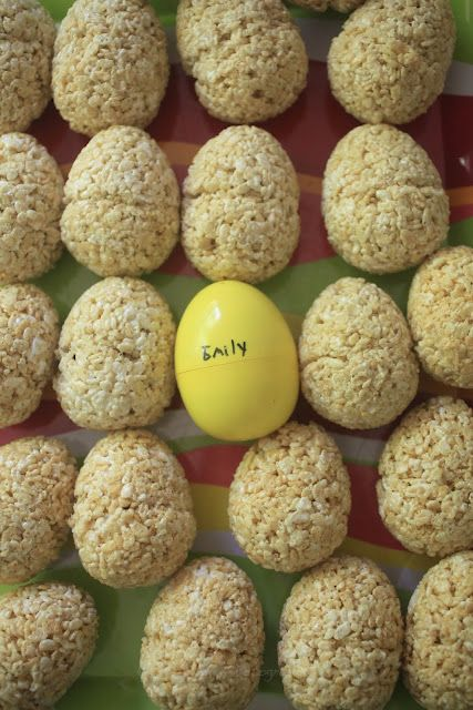 How to make Rice Krispie treat eggs for Easter.