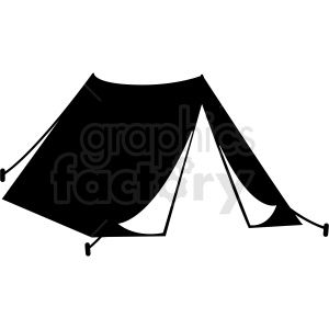Black And White Tent Vector Clipart Clip Art Vector Clipart Black And White