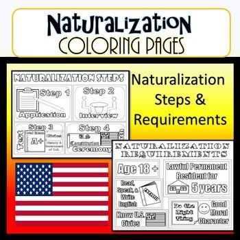 Naturalization Steps Requirements Coloring Pages Civic Coloring Pages Civics Good Morals