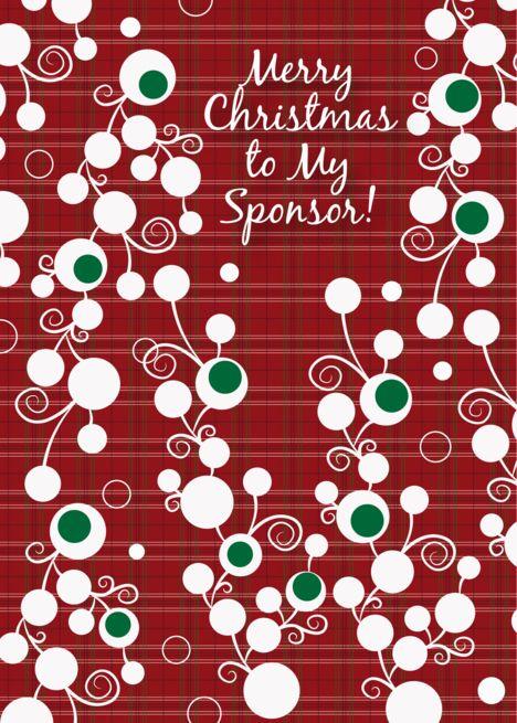Christmas Greetings To My Sponsor.Christmas To Sponsor Abstract Design Card Engine Process