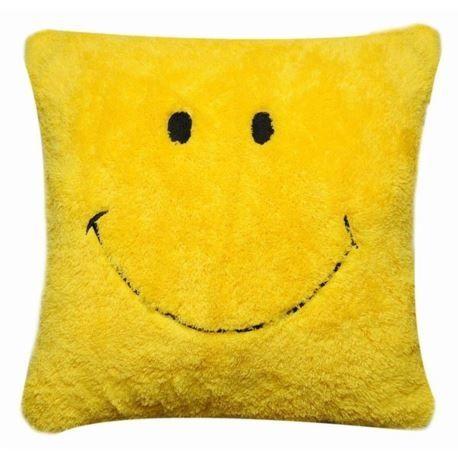 Poduszka Smile 40x40 Cm Zolty Pillows Throw Pillows Yellow