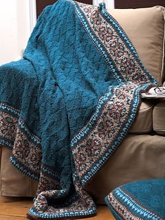 Fair Isle Border Blanket and Pillow (Pillow) by Patons - free pattern here