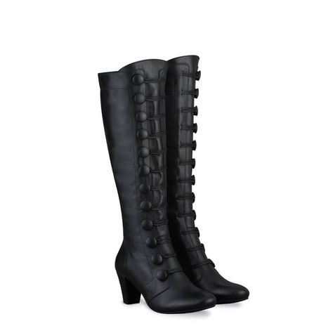 Coralie Cuir noir bottes-femme 2334 small