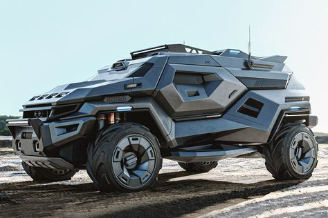 Designer Milen Ivanov's body of work includes designs for companies like Dreamworks, Croatian hypercar maker Rimac, and luxury aftermarket specialist Vilner. His Armortruck concept is. Auto Jeep, Jeep Cars, Jeep 4x4, Jeep Truck, Cool Sports Cars, Sport Cars, Cool Cars, Exotic Sports Cars, Custom Trucks
