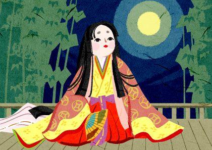 日本昔ばなし 竹取物語のかわいいかぐや姫イラスト かぐや姫