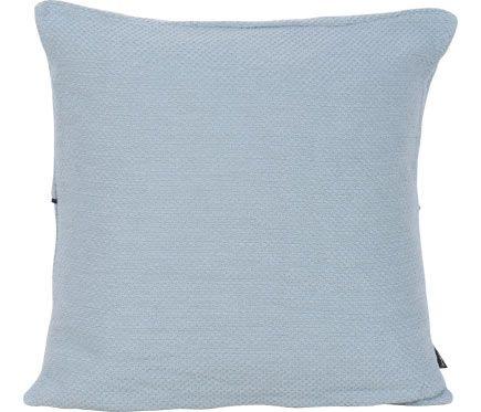 Cojín Cuadrado Niquel Azul Tinta Estilo Industrial Listas De La Compra Color Azul