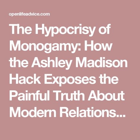 The Hypocrisy of Monogamy How the Ashley Madison Hack Exposes the - house cleaner resume sample