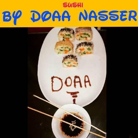 السوشى الياباني بكل سهوله وأقل تكاليف بالصور من Doaa Nasser Cooking Recipe Asian Recipes Plates Cooking