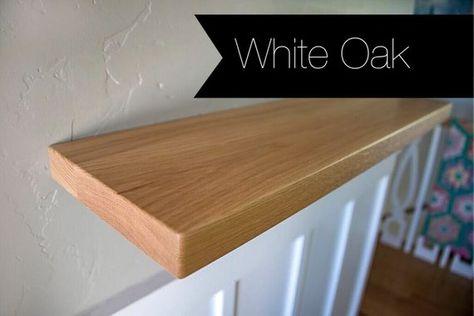 Large Oak Floating Shelf Kit