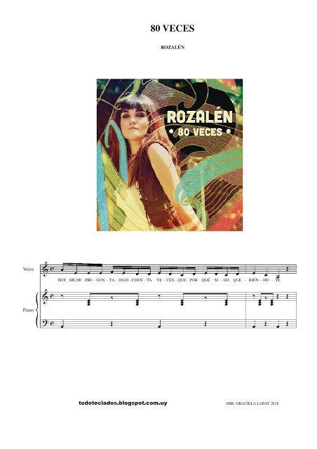 80 Veces Rozalén Partituras Música Latina Canciones