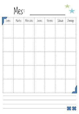 Calendario Para Escribir.Resultado De Imagen Para Calendarios Para Completar Escuela