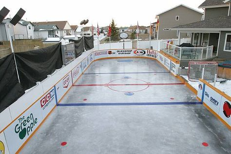 Outdoor Bounce Back® On An Home Inline Hockey Rink And Multi Court. | Backyard  Hockey Rink | Pinterest | Inline Hockey, Inline And Backyard