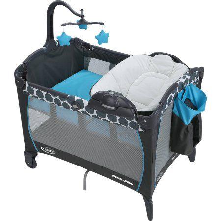 Baby Trend PY86B52B Trend-E Nursery Center Play Yard w// Wheels Starlight Blue