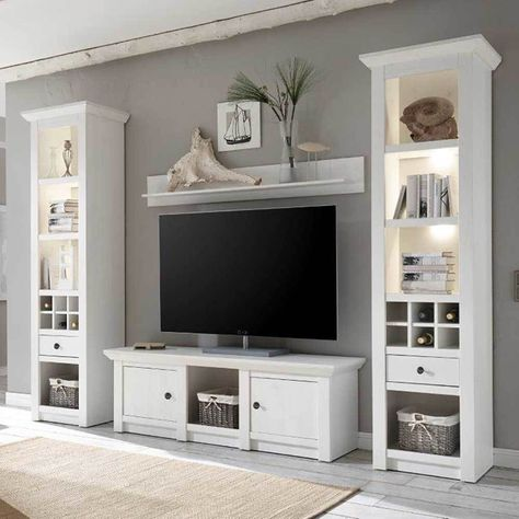 Woonwand Lyngby (3-delig) | Tv walls, Living rooms and Tv stands