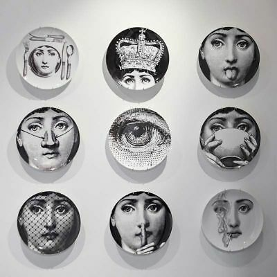 Wall Dish Hanging Plate Milan Black White Print Home Decor Plates On Wall Fornasetti Black And White Plates